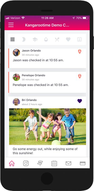 Kangarootime parent smartphone app
